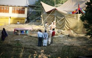 Inside the Tent bodies of Neelofar and Asiya being exhumed for forensic tests. Pgoto: Bilal Bahadur