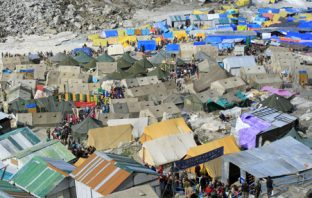 Myriad Tents rested in Amarnath