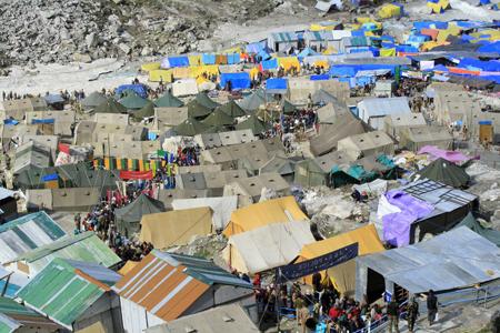 Myriad Tents rested in Amarnath