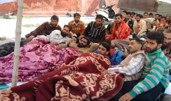 Teachers on Hunger Strike at Press Enclave Srinagar