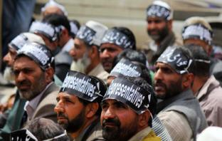 A view of Sarpanch protest-Photo:Bilal Bahadur.