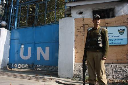 UN Office in Srinagar -- Photo: Bilal Bahadur