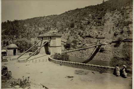 The Kohala Bridge across the Jhelum River that was an Entrance to Kashmir during 1880's