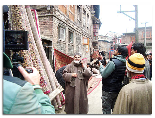 Saatchi and Saatchi shooting HCL ad in old city Srinagar. Photo: Shams Irfan