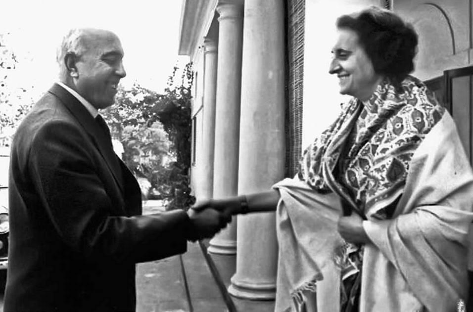 Sheikh Abdullah and Indira Gandhi