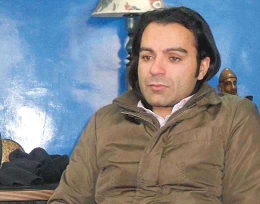 Khuram Mir at his office in Lassipora.