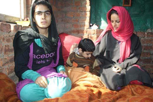 Siblings of Abdul Rehman.  Pic: Bilal Bahadur