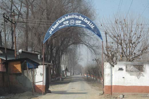Entrance to SICOP complex Bijbehara Photo: Arif Wani