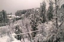 Fresh snowfall in South Kashmir's Qazigund. (KL Image by Special Arrangement)