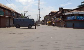 Kashmir observed complete shutdown call on August 09, 2016 while government continued to impose curfew for 32nd consecutive day.
