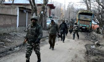 Heavy deployment of forces at the encounter site in Tral.