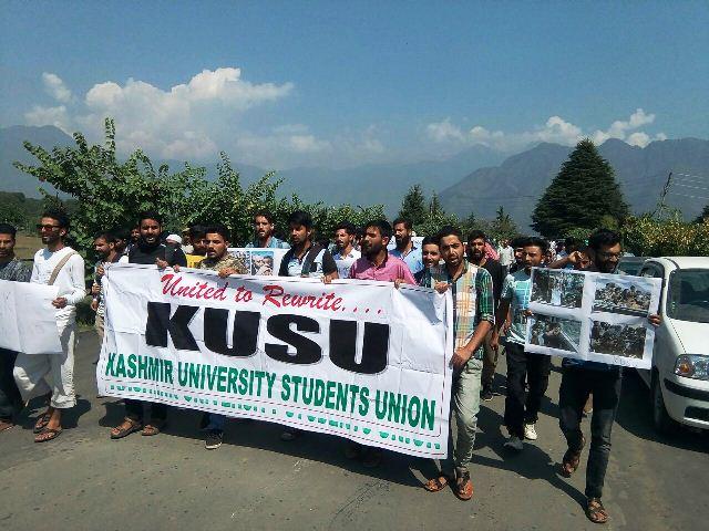 Protests across Jammu Kashmir against Rohingya Muslims killings