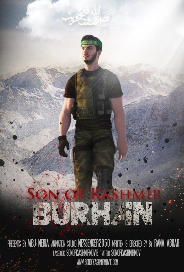 now pakistan takes burhan wani to the animation world