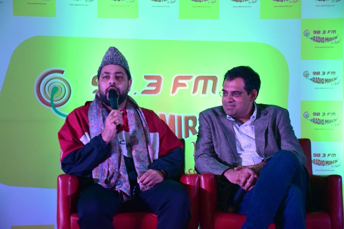 ba8f79cbd92 Bollywood rap star Badshah and Radio Mirchi Director Nitin Singh during  Mirchi 98.3 launch in Srinagar