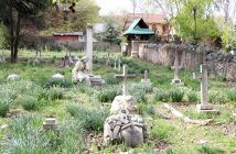 Christian cemetary in Sheikh Bagh near city centre where Robert Thrope is buried.