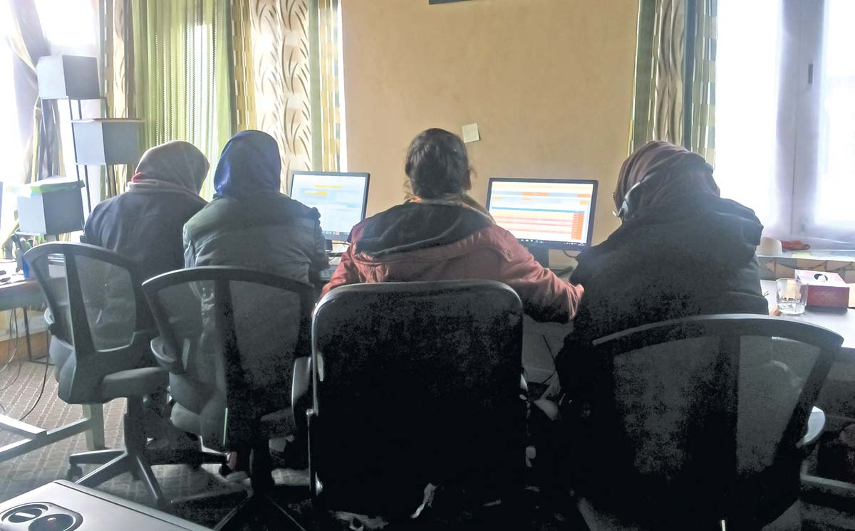 OSC team while working at Srinagar centre.