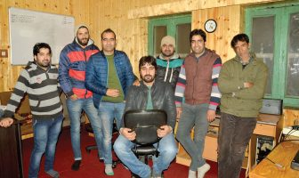 Kashmir Life Staffers - Left to Right: Fayaz Ahmad, Suhail Sultan, Shams Irfan, Mohammad Raafi, Bilal Handoo, Riyaz-ul-Khaliq & Abdul Majeed Khan.