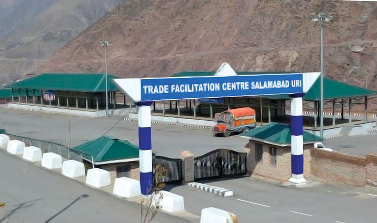 A view closed Trade Facilitation Centre at Salamabad Uri.