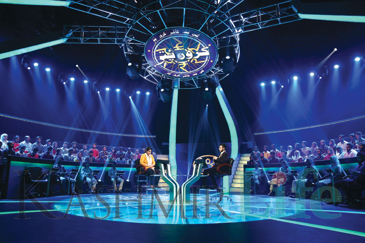 The hot seat. KL Image: Special Arrangement Kashmir Life KBC