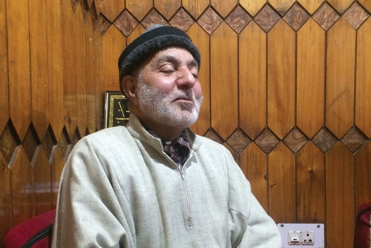 Prof Khan who contributed his house to FETO years before he married a widow that the same NGO was supporting. Now the couple lives in a portion of the same building that he had donated to the NGO. KL Image: Bilal Bahadur