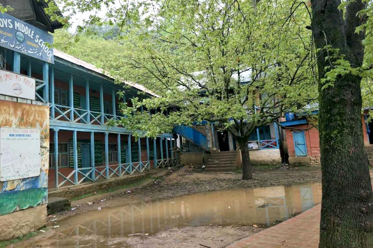 Women's Degree College Kupwara housed in Govt Middle School Salkote Kupwara. KL Image by Faheem Mir