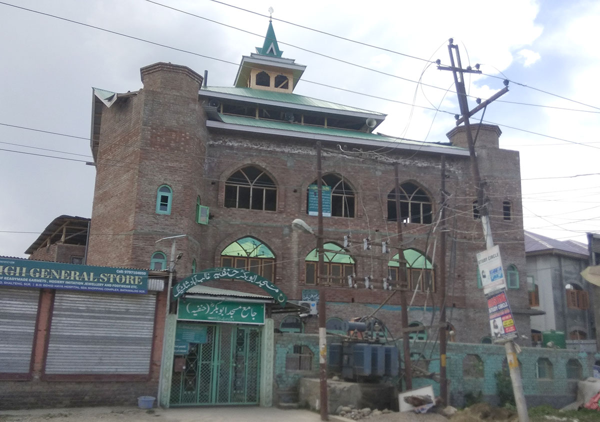 Jamia Masjd in Shalteng where announcment was made urging people not to rent rooms to Tch'phans.