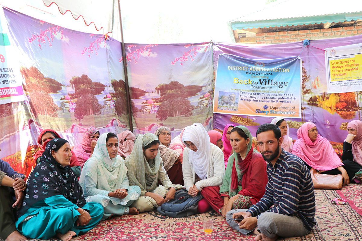 Members of self-help group at Back to Village, Nesbal, Sumbal.