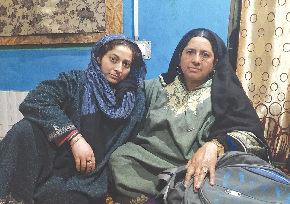 Khadija and Fareeda at their home. KL Image: Aaqib Hyder