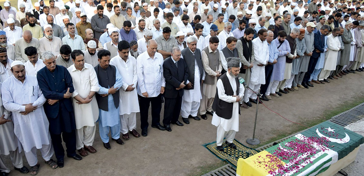Funeral of M Farooq Buch.