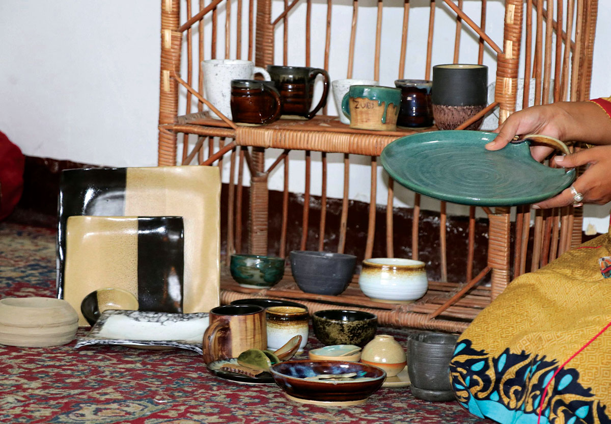 Saima's pottery. (KL Image by Bilal Bahadur)