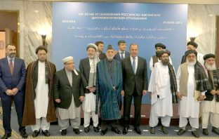 Russian Foreign minister Sergei Lavrov meets with Afghan and Taliban representatives in Moscow ahead of a conference for the centennial anniversary.