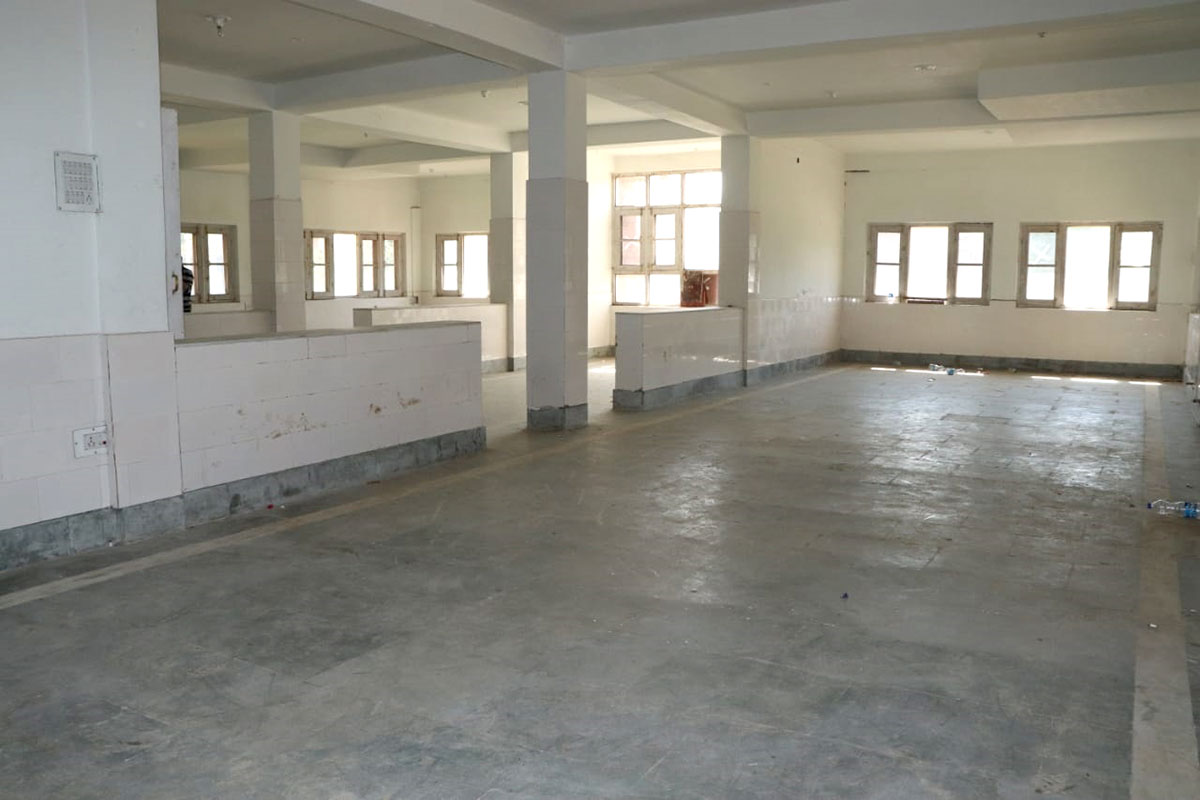Inside of the hospital building.
