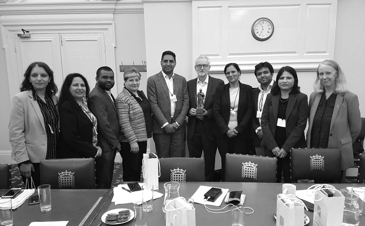 British-Pakistani UzmaRasool and was supported by Labour MP Naz Shah. In follow up, almost 100 British Indian community organisations