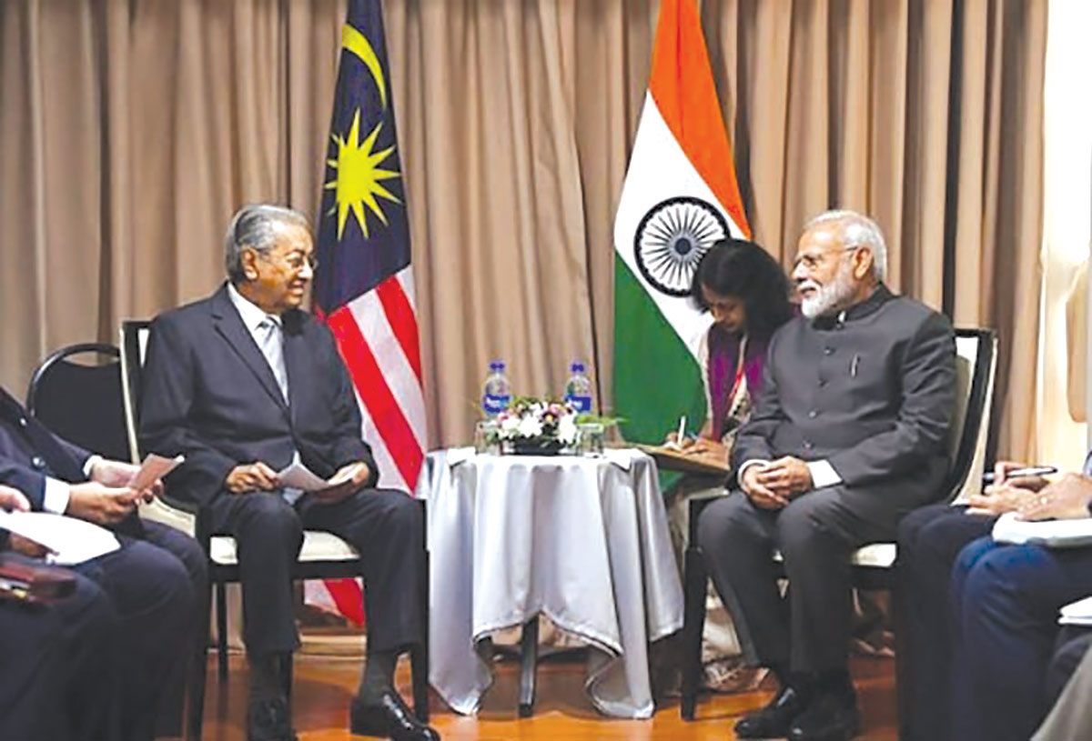 Malaysian-Prime-Minister-Mahathir-Meets-Indian-Prime-Minister-Modi-Russia