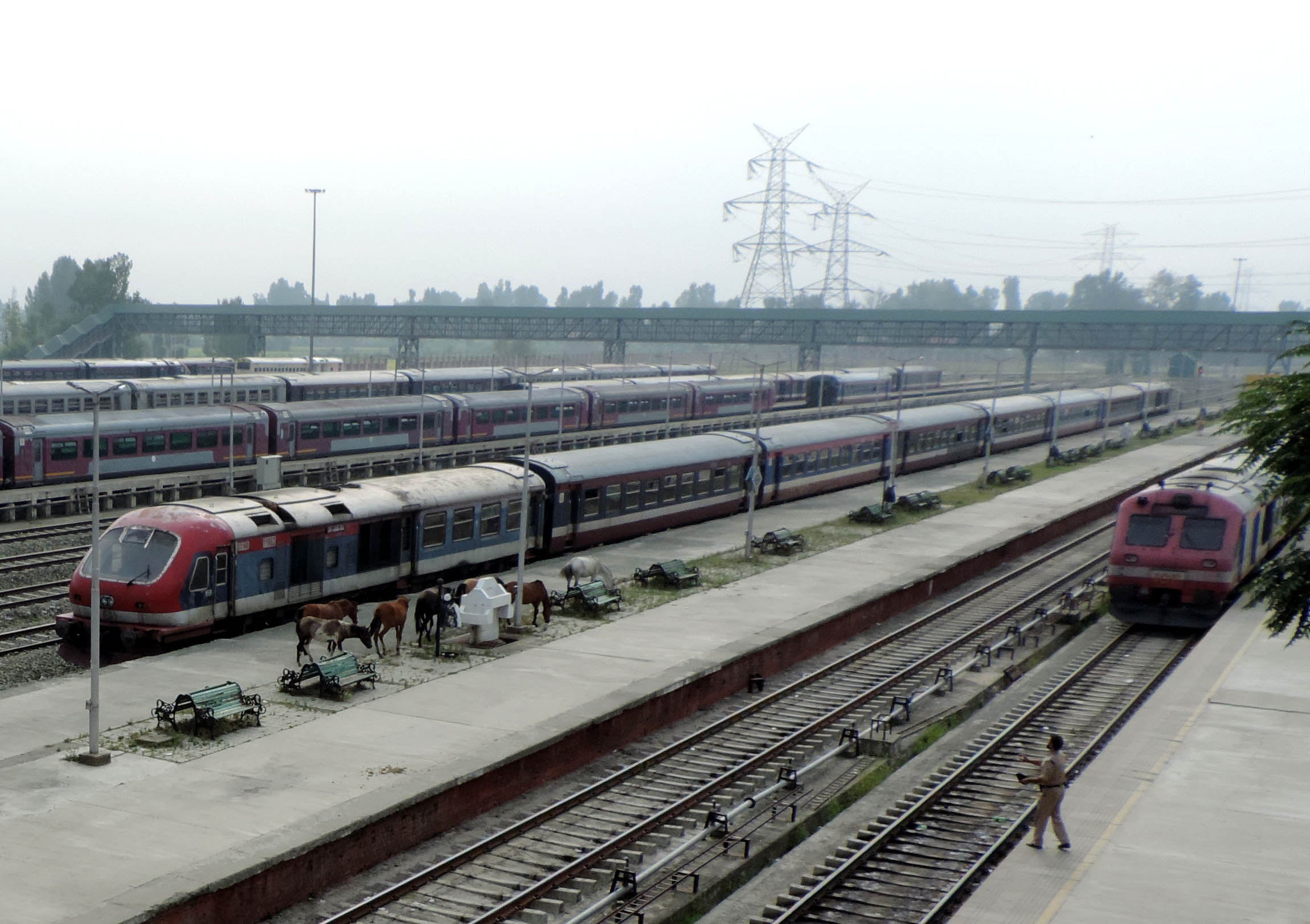 Trains are suspended since August 5. KL Image: Bilal Bahadur