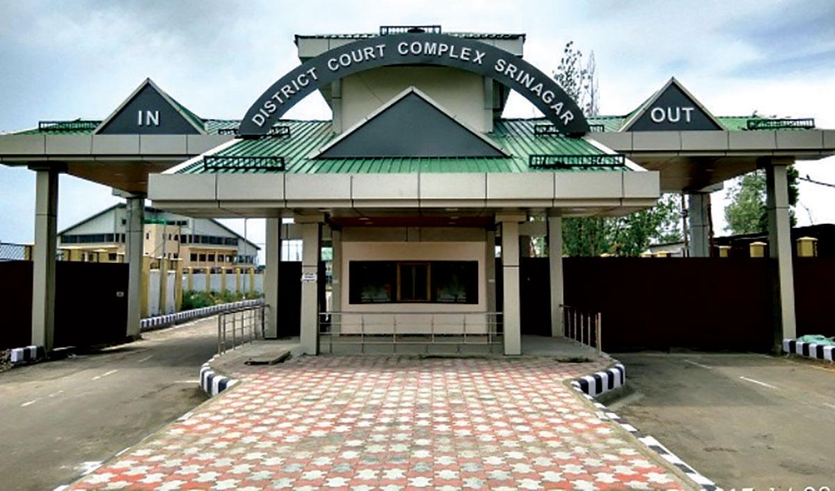 An outer view of District Court Complex , Srinagar - KL Image by Bilal Bahadur