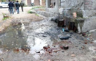 The spot in Kulgam where 5 non-locals were recently killed. KL Image by Bilal Bahadur
