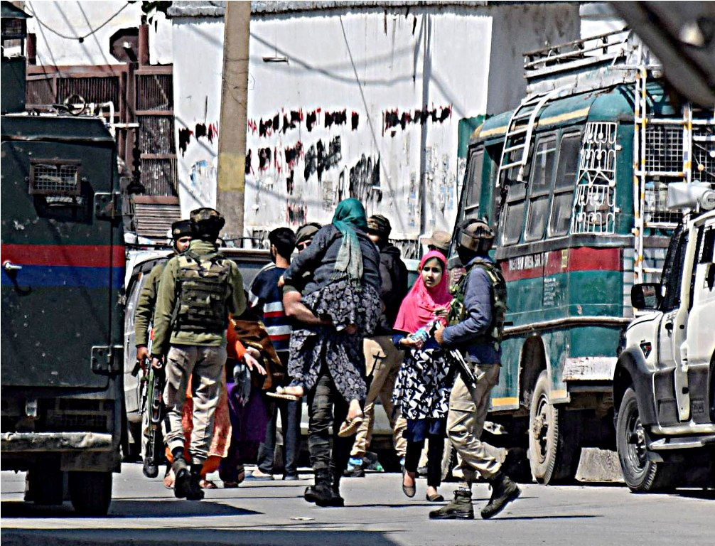 Encounter Breaks Out Between Terrorists, Security Forces In Srinagar""